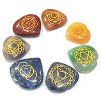 Engraved Chakra Hearts Set