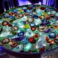 Multi Agate Stone Table Top