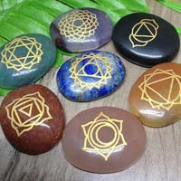 Seven Chakra Oval Shape Reiki Set