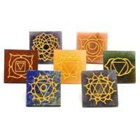 Seven Stone Reiki Healing Pyramids Chakra Set