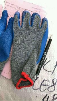 Knitted Cotton Coated Gloves