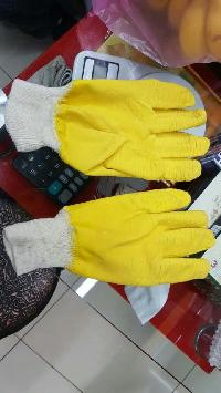Knitted Rubber Coated Gloves