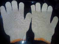 White Knitted Gloves