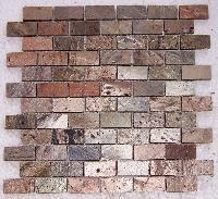 Copper 23 x 48 Mm Honed  Mosaic Tile