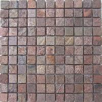 Copper 25 Mm Natural Tumbled Mosaic Tile