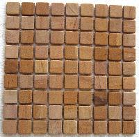 Teak 30 Mm Honed Mosaic Tile