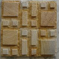 Teak Sand Blasted Buch Mosaic