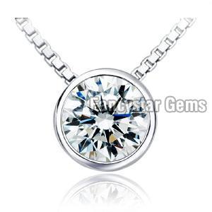 925 Silver Diamond Pendant 02