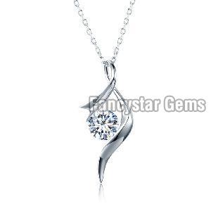 925 Silver Diamond Pendant 03