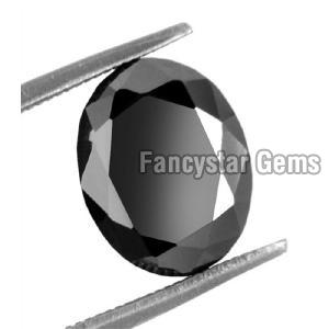 Black color Oval Shape Diamond