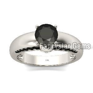 Black Diamond Engagement Ring 01