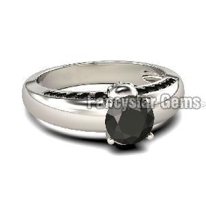 Black Diamond Engagement Ring 02
