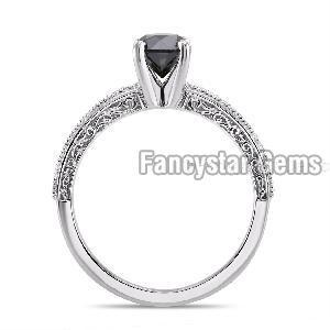 Black Diamond Engagement Ring 12