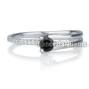 Black Diamond Engagement Ring 03