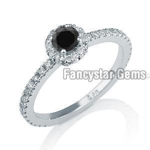Black Diamond Engagement Ring 06