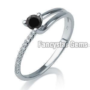 Black Diamond Engagement Ring 04