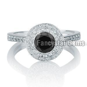 Black Diamond Engagement Ring 05
