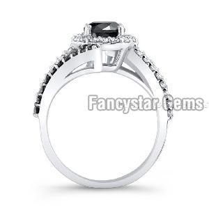 Black Diamond Engagement Ring 07