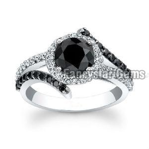 Black Diamond Engagement Ring 08