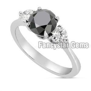 Black Diamond Engagement Ring 09