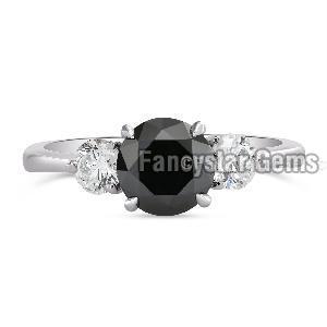 Black Diamond Engagement Ring 10