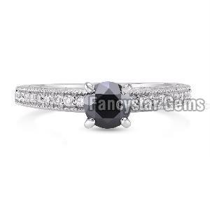 Black Diamond Engagement Ring 11