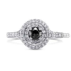 Black Diamond Engagement Ring 13