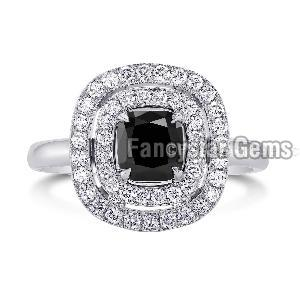Black Diamond Engagement Ring 15