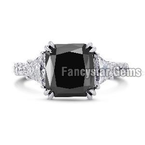 Black Diamond Engagement Ring 16