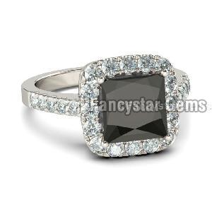 Black Diamond Engagement Ring 17