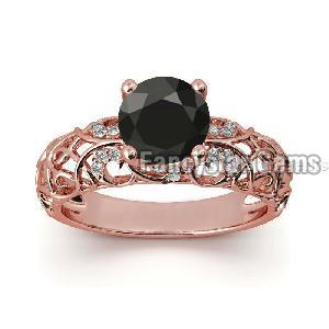 Black Diamond Engagement Ring 19