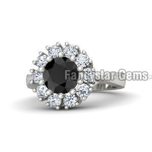 Black Diamond Engagement Ring 20