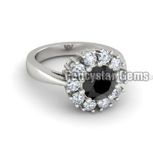 Black Diamond Engagement Ring 21