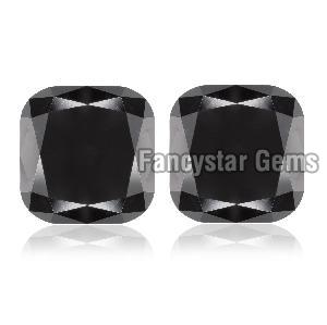 Cushion Cut Natural Black Loose Diamond (17)
