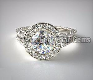 Genuine Moissanite Engagement Ring 01