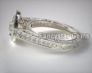 Genuine Moissanite Engagement Ring 02