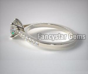 Genuine Moissanite Engagement Ring 03