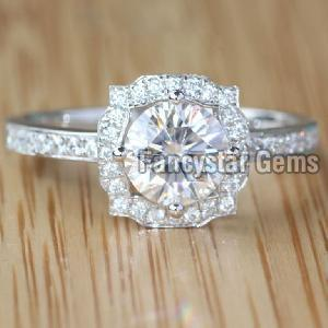 Genuine Moissanite Engagement Ring 07