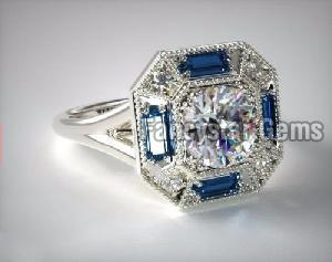 Genuine Moissanite Engagement Ring 09