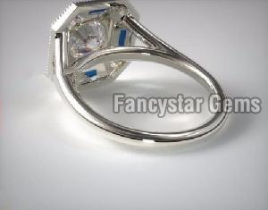 Genuine Moissanite Engagement Ring 10