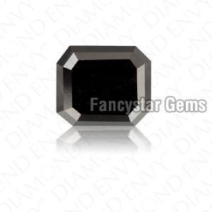 Natural Emerald Cut Black Loose Diamond 03