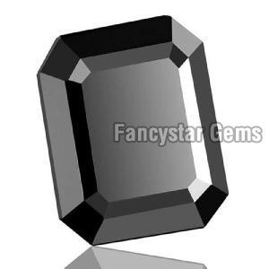 Natural Emerald Cut Black Loose Diamond 04