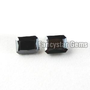 Natural Emerald Cut Black Loose Diamond 05