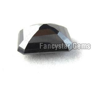 Natural Emerald Cut Black Loose Diamond 08