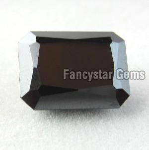 Natural Emerald Cut Black Loose Diamond 12