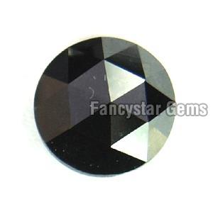Natural Round Rose Cut Black Loose Diamond 02