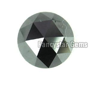 Natural Round Rose Cut Black Loose Diamond 03