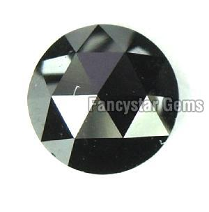Natural Round Rose Cut Black Loose Diamond 04