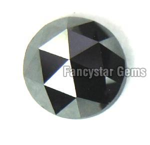 Natural Round Rose Cut Black Loose Diamond 05