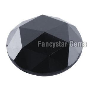 Natural Round Rose Cut Black Loose Diamond 06